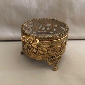 Vintage Gold Jewelry Box